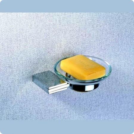 Мыльница подвесная стеклянная 5701 A (Premium) BADICO