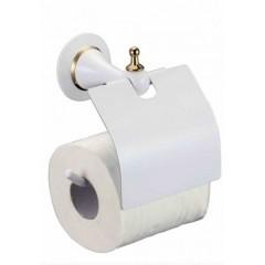 Держатель туалетной бумаги (белый) BADICO