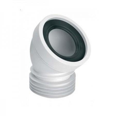 Колено для унитаза под углом 45°, с уплотнителем, L-160 mm, WC-CON16 McALPINE