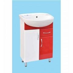 Тумба для ванної кімнати червона під умивальник Аква 55