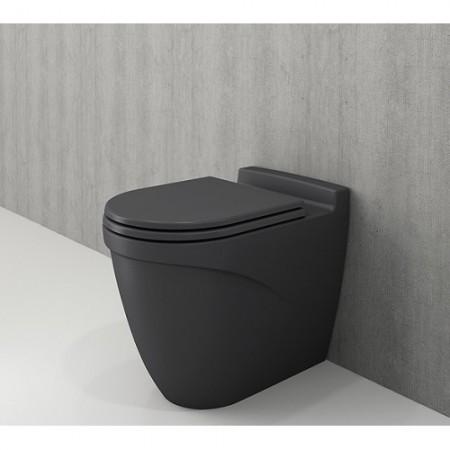 Підлоговий унітаз Taormina ARCH матовий антрацит + дюропластове сидіння