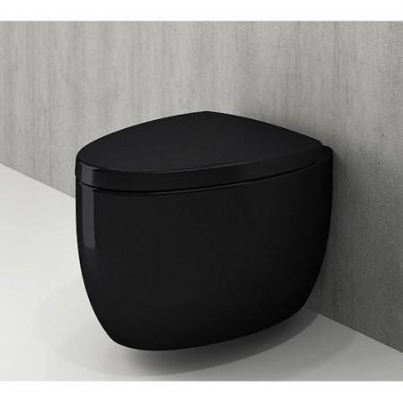 Унітаз підвісний ETNA чорний глянцевий+сидіння дюропластове(1116-005-0129+А0325-005)