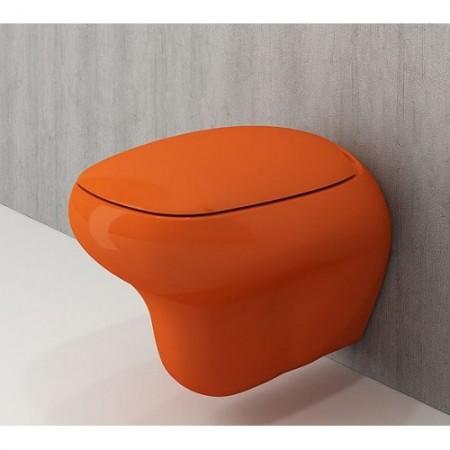 Унітаз підвісний FENICE глянцевий оранжевий+сид.дюроп.(1166-012-0129+А0327-012)