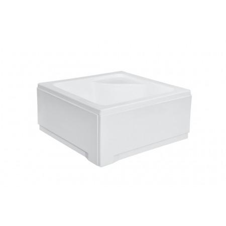 Душевой поддон квадратный белый глубокий с сиденьем 90х90х24/35 IGOR BESCO