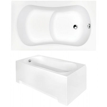 Ванна акриловая ARIA REHAB 120х70 без обудовы и ног / БЕЗ отверстий под ручки