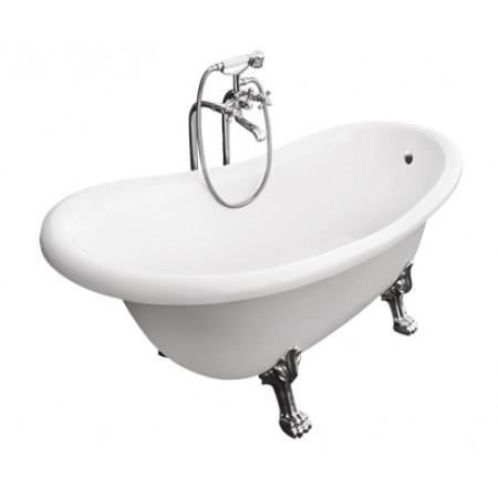 Ванна акриловая OTYLIA ретро 170х77 с ногами хромированными