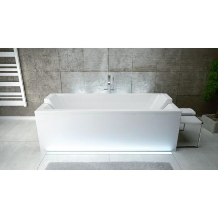 Ванна акриловая QUADRO 180х80 без ног и ручек / с отверстиями под ручки