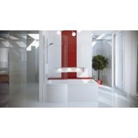 Ванна-душ акриловая INSPIRO Besco 150х70 левая