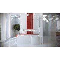 Ванна-душ акриловая INSPIRO Besco 160х70 правая