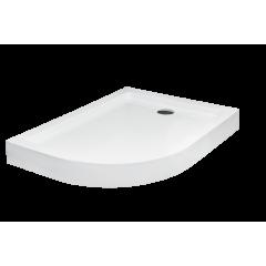 Душевой поддон полукруглый правый (комплект с ногами)120х90х4/14 см SATURN BESCO
