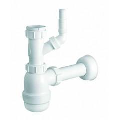 Сифон для кухонной мойки HC2WM-40 McALPINE с подключением к стиральной машине или посудомоечной машины, без слива