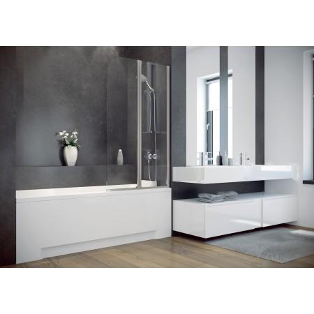 Шторка для ванны AMBITION-2 Besco стеклянная