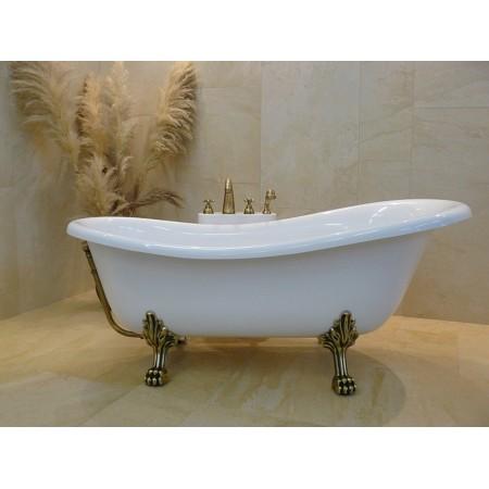 Ванна акриловая OTYLIA ретро 160х77 с ногами бронзовыми