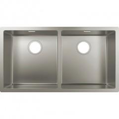 Кухонная мойка S719-U755 под столешницу 767х450 на две чаши 370/370 (43430800) Stainless Steel
