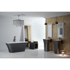 Ванная ASSOS GLAM BESCO 160х70 графитовый цвета