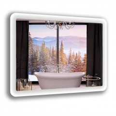 Зеркало с лед подсветкой 6-23 700х800