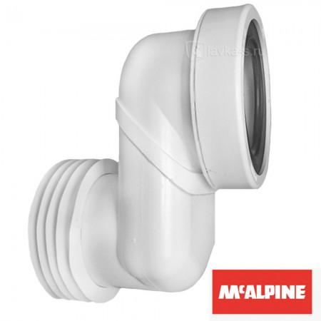 Патрубок пластиковый канализационный короткий 160 мм. эксцентричное смещение 180мм. с фланцевой прокладкой WCLO-18 McAlpine