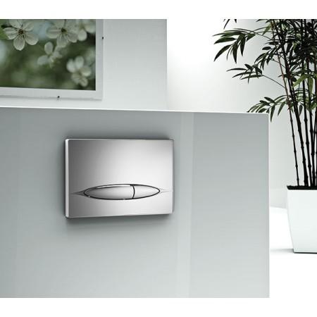 Кнопка к инсталляционной системы, глянцевая, цвет - антрацит серый METAURO (P46-0020)