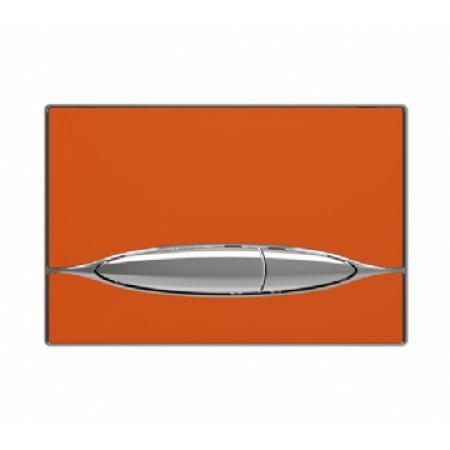 Кнопка к инсталляционной системы, глянцевая, оранжевая. METAURO (P46-0007)
