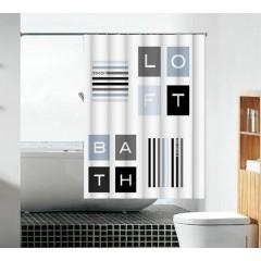 Шторка для ванны WM 180X180 + малые кольца 2073