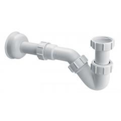Сифон пластиковый трубный для биде без слива, с трубой и розеткой 1 1/ 4 * 32мм HC23 McAlpine