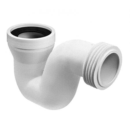 Сифон пластиковый канализационный, 270мм, для чаш Генуя горизонтальный с фланцевой прокладкой McAlpine
