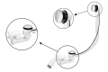 Сифон пластиковый для ванны автомат с ревизией накладка ABS 1 1/2 * 40 / 50мм HC31M-N1 McAlpine Фото 1