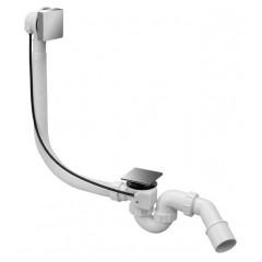 Сифон пластиковый для ванны автомат 1м полнопроходной накладка латунная квадратная 1 1/2 * 40 / 50мм HC31SQ-CBS1-1M McAlpine