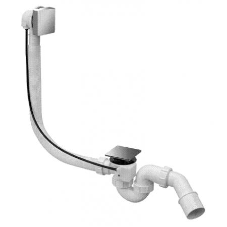 Сифон пластиковый для ванны автомат полнопроходной накладка латунная квадратная 1 1/2 * 40 / 50мм HC31SQ-CBS1 McAlpine