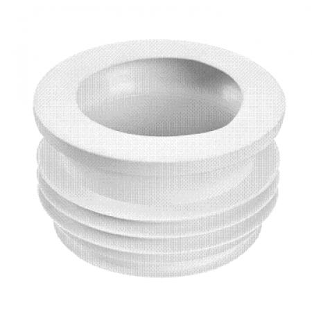 Патрубок резиновый канализационный, прямой, простой 90мм с фланцевой прокладкой WC-CON14 McAlpine