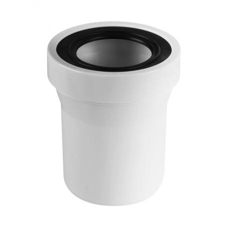 Патрубок пластиковый канализационный, прямой, короткий 150мм, без фланцевой прокладки WCE-CON1-150MM McAlpinе