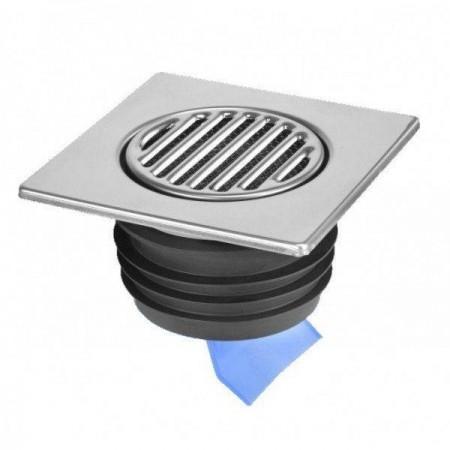 Решетка из нержавеющей стали для пола 150х150, ø110, с силиконовой мембраной, MRFGC3SSV-110 McAlpine